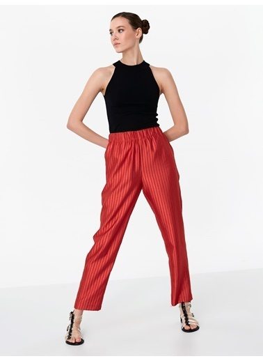Twist Pantolon Pembe